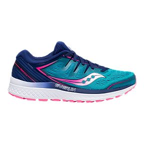d5041fc09a01 Saucony Women s Everun Guide ISO 2 Running Shoes - Teal Pink