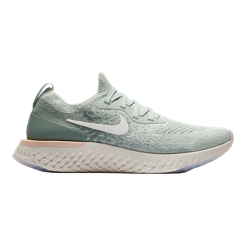 Nike Women s Epic React Running Shoes - Light Silver Sail Green ... 3d644736faa1