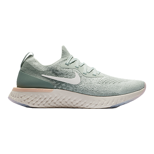 tobillo Distraer Labe  Nike Women's Epic React Running Shoes - Light Silver/Sail/Green | Sport Chek
