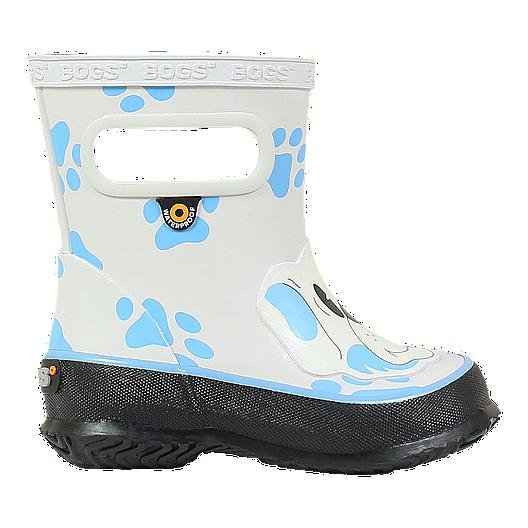 5c017fa6d Bogs Girl Toddler Skipper Animal Rain Boots - Dogs Grey