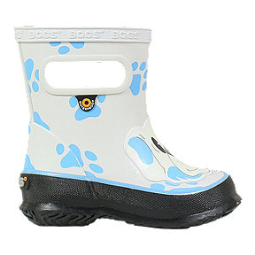 Bogs Girl Toddler Skipper Animal Rain Boots - Dogs Grey