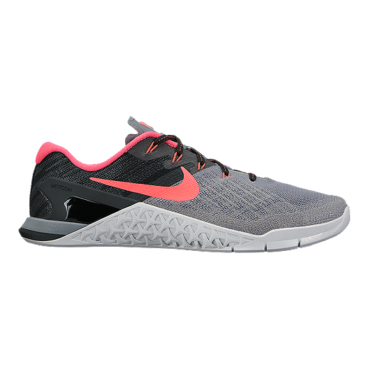 10ee82edd7bf Nike Women s Metcon 3 Training Shoes - Cool Grey Solar Red