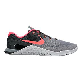 4f031dc6419 Nike Women s Metcon 3 Training Shoes - Cool Grey Solar Red