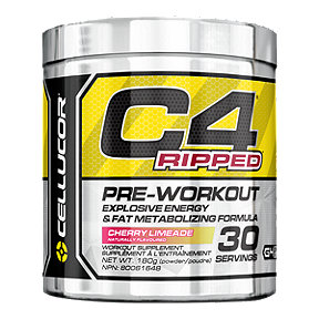 C4 Ripped Pre-Workout Cherry Limeade - 180g Powder - 30 Servings