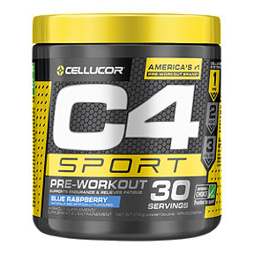 C4 Sport Pre - Workout Blue Raspberry - 270g - 30 Servings
