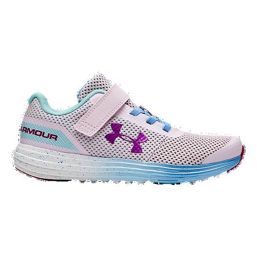 online retailer abc4a 715dd Under Armour Girls' Surge RN Prism AC Pre-School Shoes - Arctic  Pink/Carolina Blue | Sport Chek