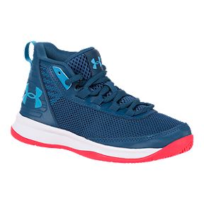 2b155a1fe6787c Under Armour Boys  Jet Pre-School Basketball Shoes - Petrol Blue White
