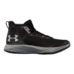 79b0baed2c2 Under Armour Boys  Jet 2018 Grade School Basketball Shoes - Black Grey