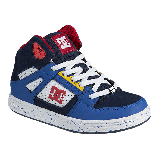 770c124c17 DC Boys' Pure High EV High-Top Pre-School Shoes - Navy/Red