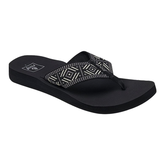 68cd2ba424f9 Reef Women s Spring Sandals - Woven Black