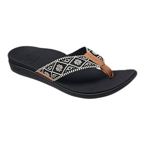 e9a6a2b53638 Reef Women s Ortho Bounce Sandals - Woven Black White