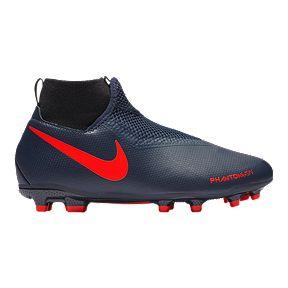 6e252590a Nike Boys' Grade School Phantom VSN Academy DF Firm Ground Shoes - Navy/Red