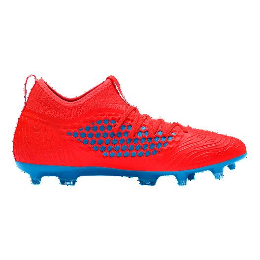 Puma Soccer Cleats Puma Men's Future 19.3 FG Soccer Shoes - Red/Blue | Sport Chek