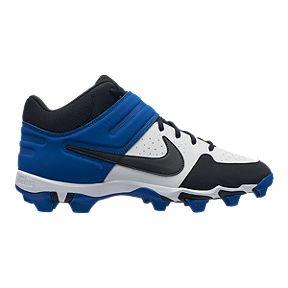 9443588ab21b Nike Men s Alpha Huarache Keystone Mid Cut Baseball Cleats - White Black