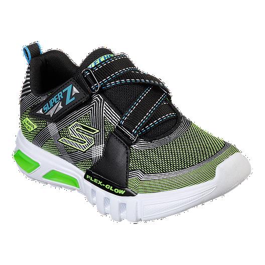 Skechers Boys' Flex Glow Lite Pre School Shoes BlackLime