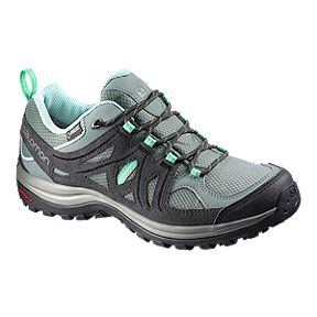 b8db976184f58 Salomon Women s Ellipse 2 GTX Hiking Shoes - Asphalt Jade Green