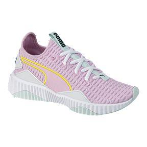 4b6a7613a48d59 PUMA Girls  Defy Shoes - Pale Pink White