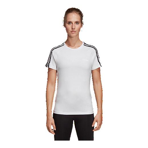 f84a342d3b8c4 adidas Women's Design 2 Move 3 Stripe T Shirt | Sport Chek
