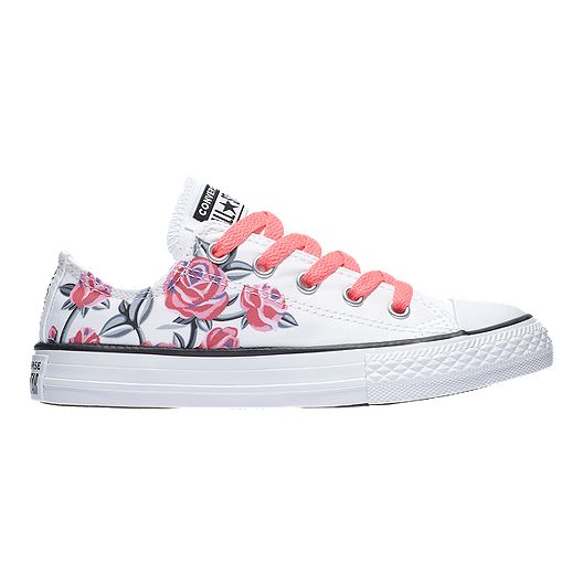 cbc6ecda1e07 Converse Girls  Chuck Taylor All Star Girl Power Classic Shoes - White Pink