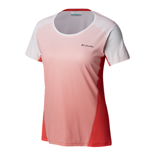c7b6102321a Columbia Women's Solar Chill 2.0 Short Sleeve Shirt - Red Coral
