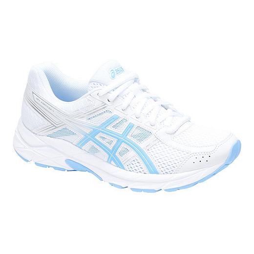 ff9487ec49 ASICS Women's Gel Contend 4 Training Shoes - White/Blue - WHITE/BLUE BELL