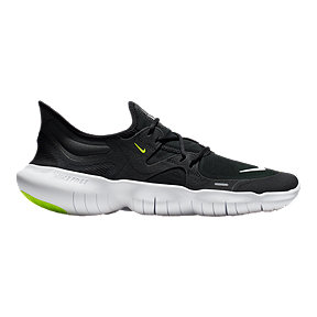 Nike Men's Free RN 5.0 Running Shoes - Black/White/Green