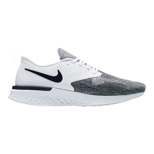 official photos d03f7 228dc Nike Men s Odyssey React 2 Running Shoes - White Black   Sport Chek