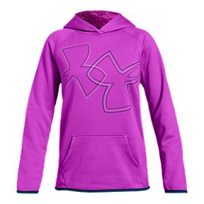 81dd68282 Under Armour Girls' Armour Fleece Dual Logo Hoodie