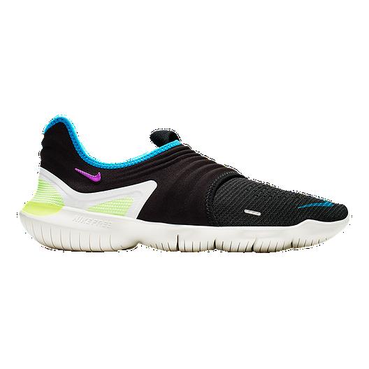 big sale 6e601 11f56 Nike Men s Free RN Flyknit 3.0 Running Shoes - Black Purple Orange   Sport  Chek