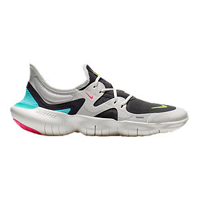 Nike Women's Free RN 5.0 Running Shoes - White/Black/Teal/Pink