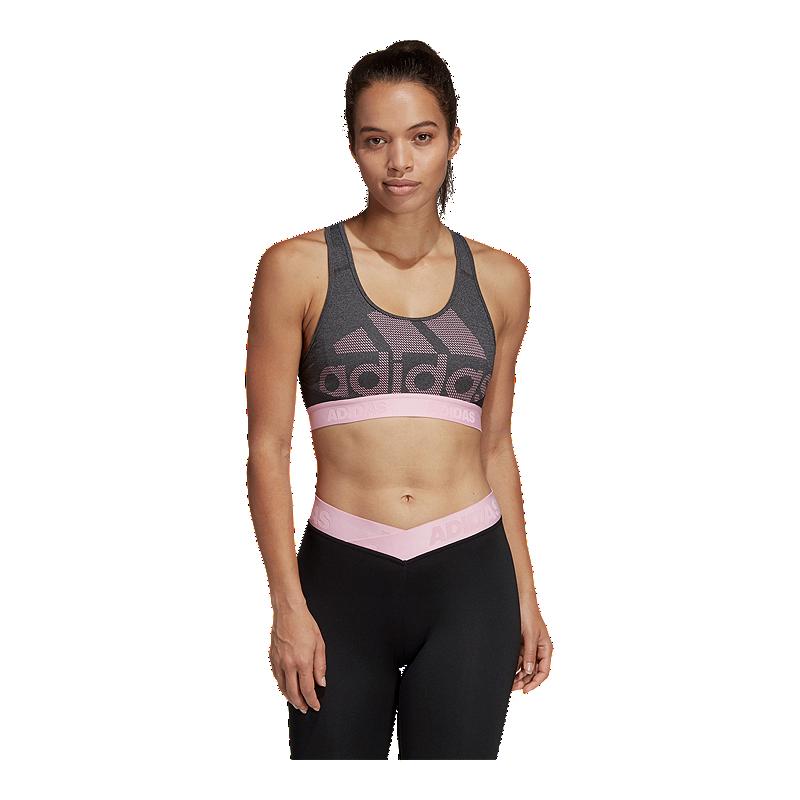 d8066d5ddc1 adidas Women's Don't Rest Alphaskin Logo Mid Sports Bra | Sport Chek