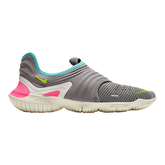 purchase cheap df8d0 3e5f3 Nike Women's Free RN Flyknit 3.0 Running Shoes - Grey/Green/Pink | Sport  Chek