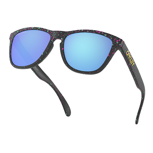 7304d3abe5 Oakley Frogskins Splatter Sunglasses - Black with Prizm Sapphire Lenses.  (0). View Description