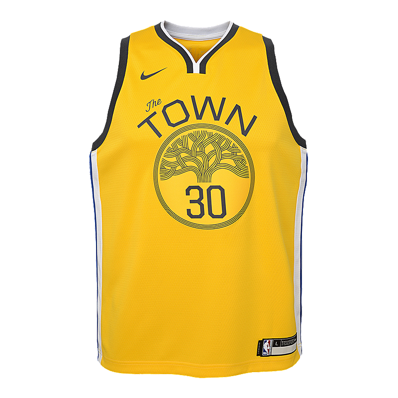 43dae53fc Youth Golden State Warriors Curry Earned Edition Swingman Jersey ...