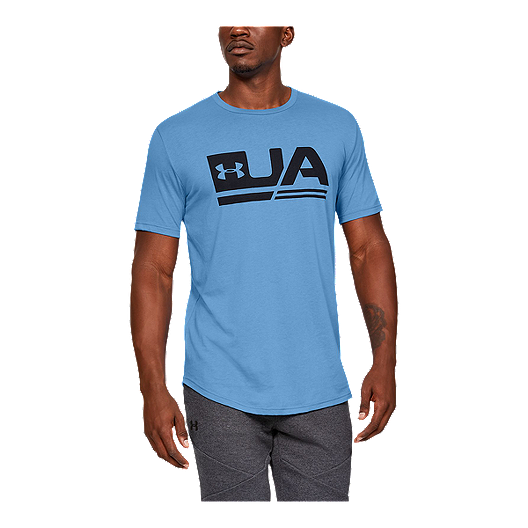 separation shoes 10832 4fc8f Under Armour Men's Sportstyle Drop T Shirt - Ether Blue/Black