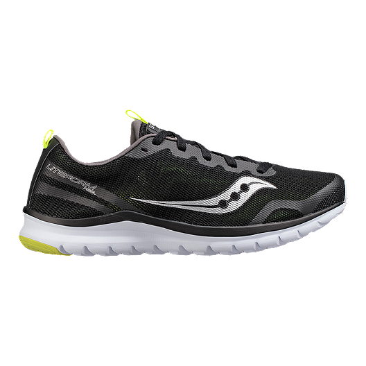 b083b14b628ad Saucony Men's Litefrom Feel Walking Athletic Shoes - Grey/Black/Citron