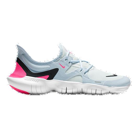 differently b59f2 71081 Nike Women s Free RN 5.0 Running Shoes - White Black Blue Pink   Sport Chek