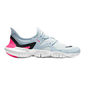 Nike Women's Free RN 5.0 Running Shoes - White/Black/Blue/Pink