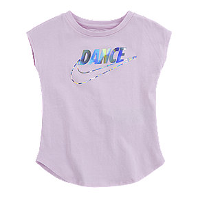 Nike Girls' 2-4 Dance Swoosh Modern Short Sleeve