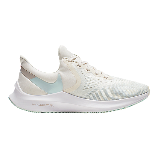 5b2edb7a6 Nike Women's Zoom Winflo 6 Running Shoes - Ivory/Teal/White | Sport Chek