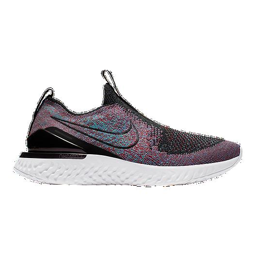 65486a648024c Nike Women s Epic Phantom React Flyknit Running Shoes - Black Red ...