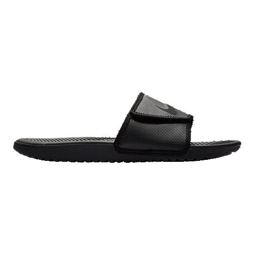 Nike Men's Kawa Adjustable Slide Sandals   Black by Sport Chek