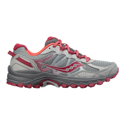 Saucony Women s Excursion TR 11 Wide Trail Running Shoes - Grey Pink ... f469d6ca4c7c
