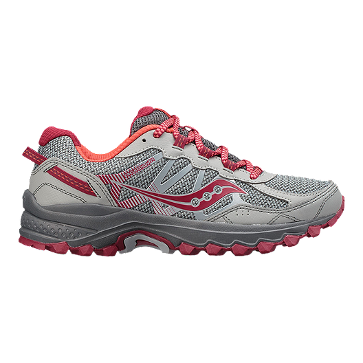 edbc7fe20e Saucony Women's Excursion TR 11 Wide Trail Running Shoes - Grey/Pink