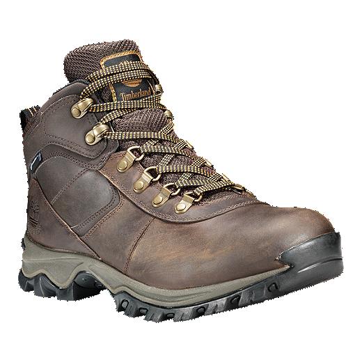 3d39d3a82 Timberland Men's MT Maddsen Mid Waterproof Hiking Boots - Dark Brown - DK  BROWN