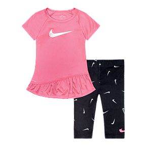 4474b737a Nike Girls' Baby Dri-FIT Sport Tunic N Swoosh Fetti Tight