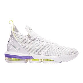 sports shoes 4e4d7 b2aac Nike Men s LeBron XVI Basketball Shoes - White MTC