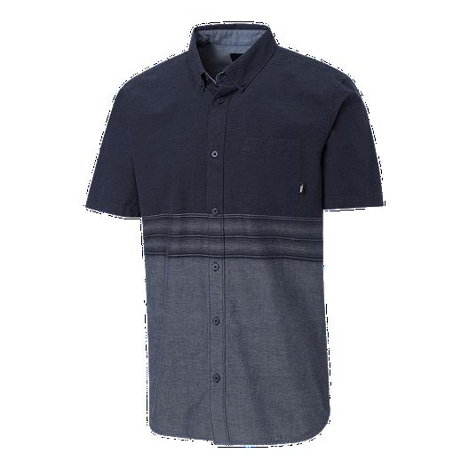 f4e3e68172 Vans Men's Bertrand Short Sleeve Woven Shirt - Dress Blues | Sport Chek