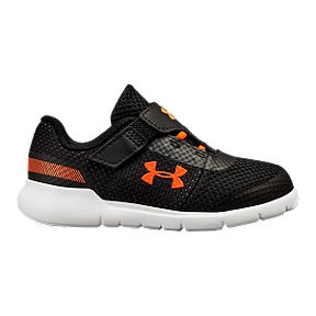 1f0cc38afd40 Under Armour Toddler Surge RN AC Running Shoes - Black White Ares Red