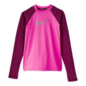 44f4d7ba2348 Nike Girls  Flash Colour Block Long Sleeve Hydroguard